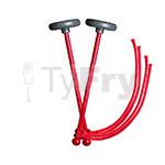 myTyFry® Ultimate Custom Practice Tenor Drum Mallets (Red)