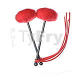 TyFry® Ultimate Tenor Drum Mallets (Red)