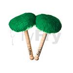 TyFry® Bass Drum Mallets (Emerald Green)