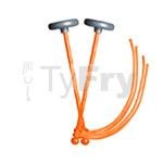 myTyFry® Ultimate Custom Practice Tenor Drum Mallets (Orange)